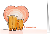 Forevermore Bears Wedding Anniversary card