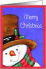 Merry Christmas Sweet Snowman card