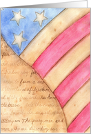 Veterans Day Thank You American Flag card
