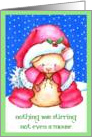 Santa Claus Mouse Christmas card