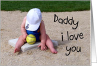 Happy Father's Day - Toddler Playing Ball card