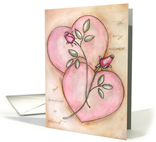 Beautiful Roses and Hearts Valentine's Day card (898200)