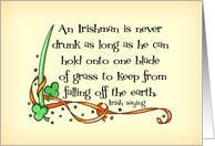 Not Drunk St. Patrick's Day Card