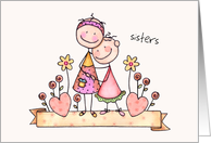 Sister's Day Card - Cute Stick Figures card