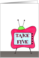 Take Five Retro Congratulations Card
