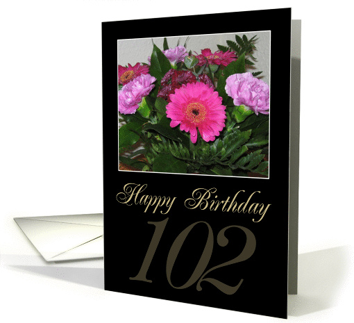 Happy Birthday 102 Card (143328