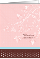 Mother in Law cards - floral Mother in Law card