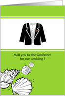 Will you be the Godfather for our wedding ? card