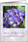 Happy Mothers Day to Mother-in-Law - blue hydrangea card
