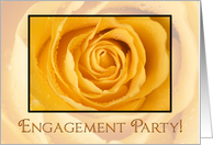 Yellow rose - engagement party invitation card