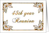 45th year reunion - gold embossing card