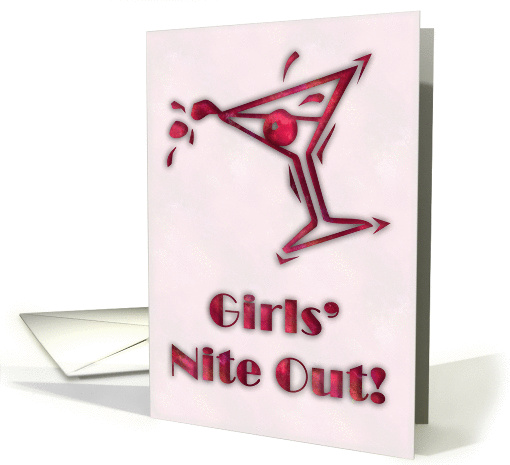 Girls' Nite Out invitation - ruby card (232918)