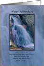 Birthday, 71st, Religious, Mountain Waterfall card