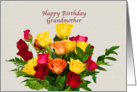 Birthday, Grandmother, Bouquet of Roses card