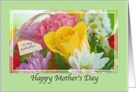 Godmother's Mother's Day Card with Flowers card