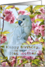 Birthday, Step Mother, White Parrot card