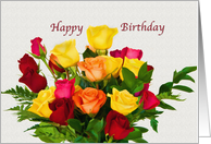 Birthday, Religious, Rose Bouquet card