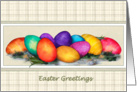 Colorful Decorated Easter Eggs Greeting card