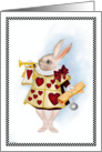 Don't Be Late - White Rabbit Note card