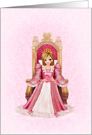 Princess Valentine Young Girl card