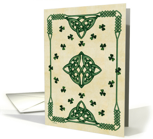 Celtic/ St. Patrick's Day Wishes card (132226)
