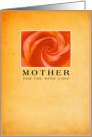 Peach Rose - For Mother With Love card
