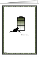Welcome Home - Cat card