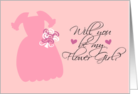 Will you be my Flower Girl? Pink card