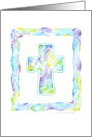 Communion Christian Cross Shades Of Blue card