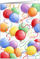 Birthday Balloons Celebrate The Day card