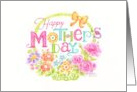 Mom Mother's Day Beautiful Flower Basket card