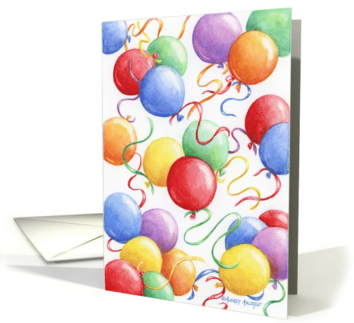 Birthday Balloons Celebrate The Day card (118477)
