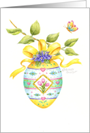 Easter Friend Painted Egg On A Branch card