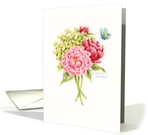 Thinking of You Beautiful Bouquet Blessings card (1630600)