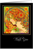 Thank You Greeting Card, 'An Art Nouveau Fantasy' card