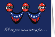 Please join me in voting for . . . card