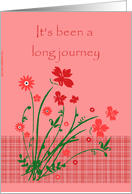 End of Chemo Treatments - Long Journey card