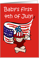 Baby's First 4th of July! card
