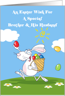 Brother and His Husband Easter Wishes Card