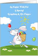 Grandson and His Fiance Easter Wishes Card