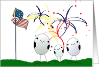 Eggcellent 4th of July Card