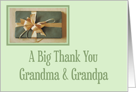 Christmas gift thank you,Grandma And Grandpa card