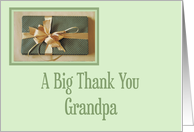 Christmas gift thank you,Grandpa card