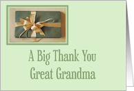 Christmas gift thank you,Great Grandma card