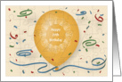 Happy 27th Birthday with orange balloon and puzzle grid card