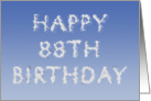 Happy 88th Birthday written in clouds card