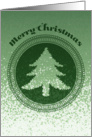 Merry Christmas with abstract tree,seal and texture card