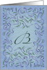 Monogram, Letter B with blue background card