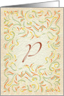 Monogram, Letter P with yellow background card