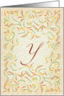 Monogram, Letter Y with yellow background card